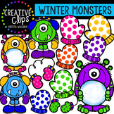 {FREE} Winter Monsters {Creative Clips Digital Clipart}
