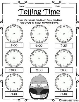 *FREE* Winter Telling Time Printable [No Prep!]