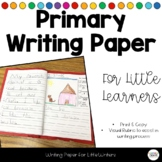 {FREE} Writing Journal Paper with Picture Rubric for Begin