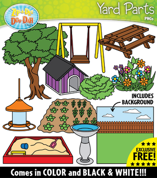 {FREE} YARD Parts of a House Clipart
