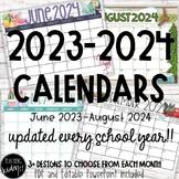 Editable Classroom Calendars - 2021-2022 {NEWLY UPDATED}