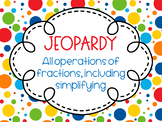 *EDITABLE* Fractions Game Show Review (Jeopardy Style)