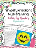 Simplify Fractions Mystery Emoji Picture