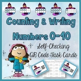Counting & Writing Numbers 0-10 Task Cards with QR Codes