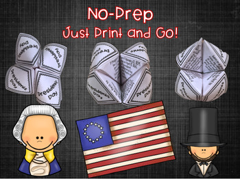 President Day Cootie Catchers