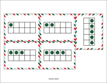 Holiday Banner - Counting Activity (1-10) with Matching Ten Frames