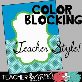 45 Product Covers / Design Templates * Color Blocking Style