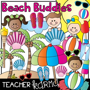 Beach Buddies  * Summer Clipart