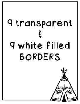 Boho Borders: NATIVE AMERICAN Clipart ~ Commercial Use OK