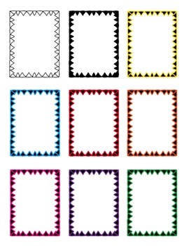 Borders: Triangles Clipart ~ Commercial Use OK ~ TRIBAL