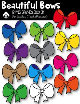 Bows:  Beautiful Bows Clipart ~ Commercial Use OK