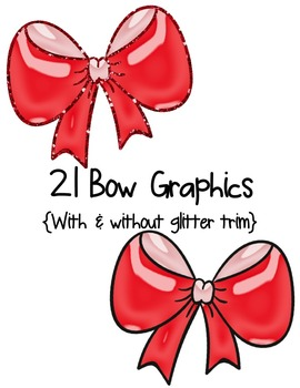 Bows: Bright & Shiny Clipart ~ Commercial OK ~ Glitter