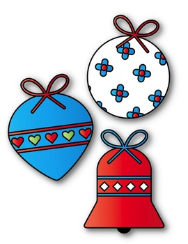 Christmas Ball Ornaments Clipart ~ Commercial Use OK ~ Winter