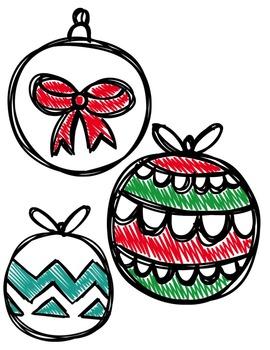 Christmas Balls Clipart ~ Commercial Use OK ~ Chevron