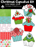 Christmas Cupcakes Kit for SELLERS Clipart ~ Commercial Use OK