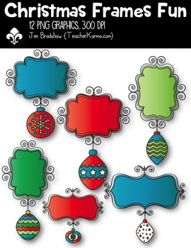 Christmas Frames Fun Clipart ~ Commercial Use OK
