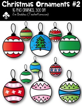 Christmas Ornaments #2 Clipart ~ Commercial Use OK