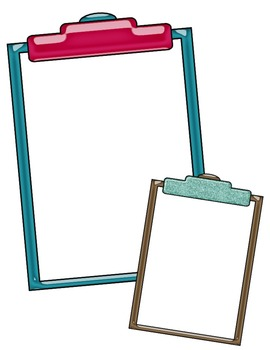 Clipboards: Bright & Shiny Clipart ~ Commercial Use OK ~ Frames