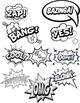 Comic Book Words Clipart ~ Onomatopoeia