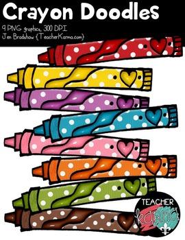 Crayon Doodles Clipart ~ Commercial Use OK ~ Art