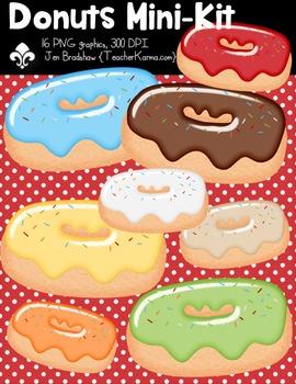 Donuts Mini Seller's Kit Clipart ~ Commercial Use OK