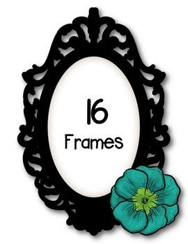 Flower Frames *So Fab* Clipart ~ Commercial Use OK