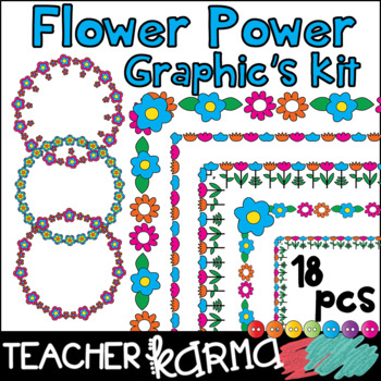 (FREE today) Flower Power Graphics Kit
