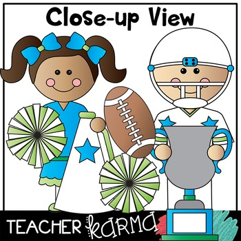 Football & Friends Clipart * Cheerleaders