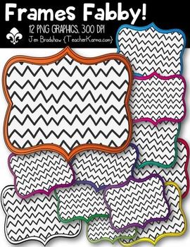 Chevron Fabby Frames Clipart ~ Commercial Use OK
