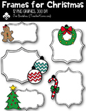Frames for Christmas Clipart ~ Commercial Use OK