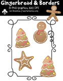 {FREE} Gingerbread & Borders Clipart ~ Commercial Use OK ~ Christmas