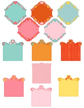 Heart Frame Labels Clipart ~ Commercial Use OK ~ Valentine's Day