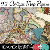 Map ANTIQUE Papers / Backgrounds * History BUNDLE