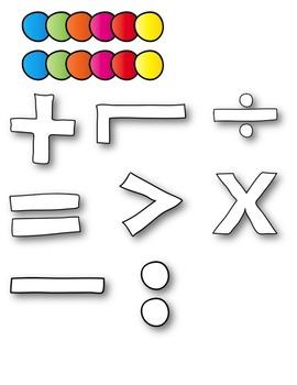 Math Symbol Doodles BUNDLE Clipart ~ Commercial Use OK
