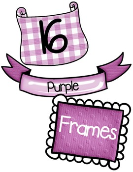 Purple Frames Clipart ~ Commercial Use OK ~ Borders