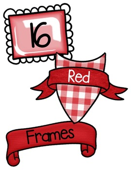 Red Frames Clipart ~ Commercial Use OK ~ Borders