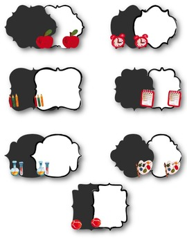 {FREE today} School Frames: Painted Clipart ~ Commercial OK