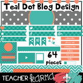 Teal Dots BLOG DESIGN Elements * Teacher Blog