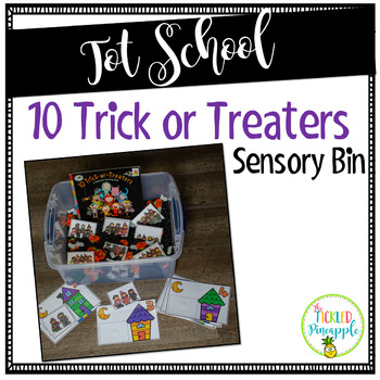 ~FREEBIE~ 10 Trick or Treaters Sensory Bin