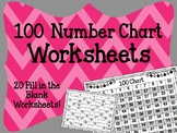 {FREEBIE} 100 Chart. Counting. Preschool. 1 to 100. Worksheets.