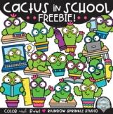 {FREEBIE #2!} Cactus in School Clipart