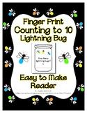 Finger Print Lightning Bug Fire Fly Craft Reader Count to 10