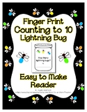 Finger Print Lightning Bug Fire Fly Craft Reader Count to 10