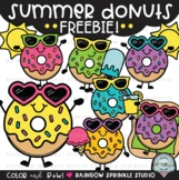 Summer Donuts Clipart FREEBIE {donut clipart}