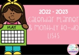 **FREEBIE** 2017 - 2018 Calendar and Monthly Planner