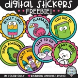 Digital Stickers Clipart FREEBIE {distance learning stickers}