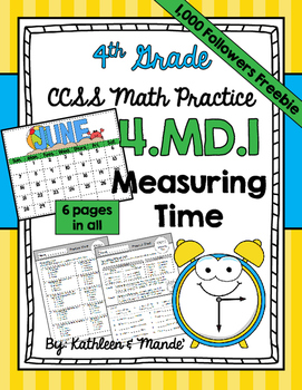 {FREEBIE} 4.MD.1 Practice Sheets: Measuring Time