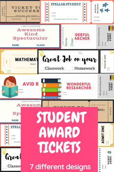 *FREEBIE*  7 Student Award Tickets