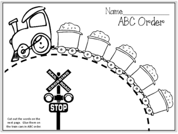 {FREEBIE} ABC Order Train! Alphabetical Order. ELA Center