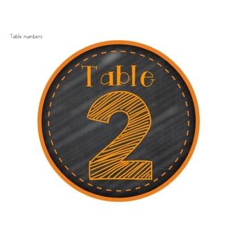 **FREEBIE ALERT** Chalkboard Brights Table Numbers 1-6